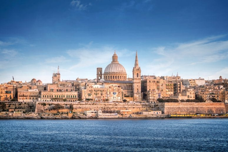 Valletta, Malta's capital city and UNESCO World Heritage Site