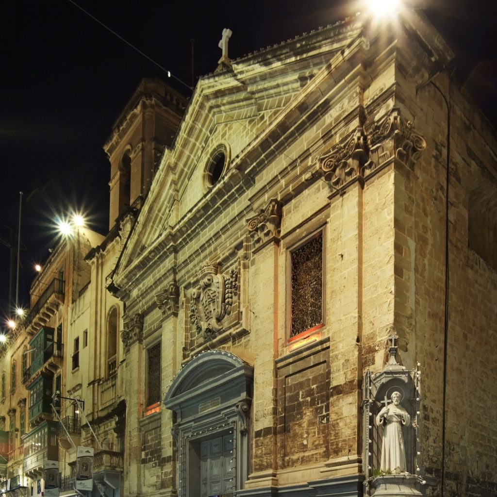 Church of St . Francis of Assisi in Valletta. Malta